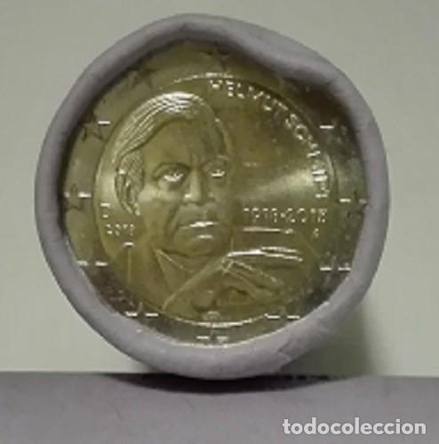 Monedas antiguas de Europa: ALEMANIA - 2 EURO 2018 - HELMUT SCHMIDT - CONMEMORATIVA DE 100 ANIVERSARIO DE NACIMIENTO - Foto 2 - 153568274