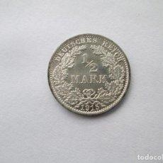 Monedas antiguas de Europa: ALEMANIA * 1/2 MARCO 1915 * PLATA S/C. Lote 114712355