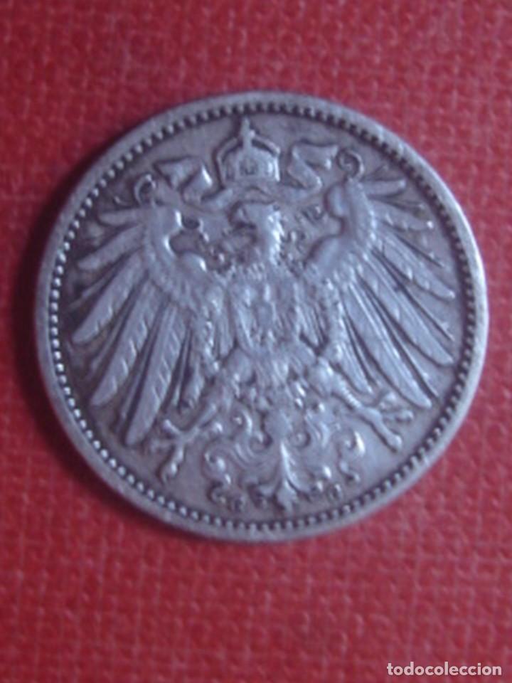 Monedas antiguas de Europa: 1 marco alemán de plata de 1903, ceca de Karlrushe (G). KM14 - Foto 2 - 114714827