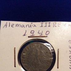 Monedas antiguas de Europa: MONEDA ALEMANA 10 PFENNIG, AÑO 1940, EPOCA III REICH. Lote 115021671
