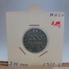 Monedas antiguas de Europa: ALEMANIA REPUBLICA DE WEIMAR 200 MARCOS 1923 CECA A. Lote 115063572