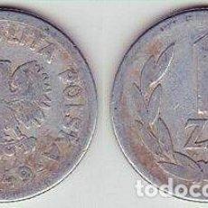 Monedas antiguas de Europa: POLONIA – 1 ZLOTY 1949, Y 45A, CALIDAD MBC . Lote 115294483