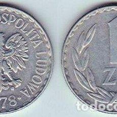 Monedas antiguas de Europa: POLONIA – 1 ZLOTY 1974, Y 49.1, CALIDAD MBC+ . Lote 115294555
