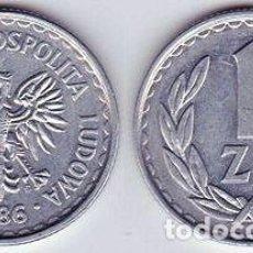 Monedas antiguas de Europa: POLONIA – 1 ZLOTY 1986, Y 49.2, CALIDAD MBC+ . Lote 115294719