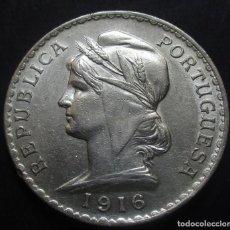 Monedas antiguas de Europa: PORTUGAL 1 ESCUDO 1916 I REPÚBLICA -PLATA-. Lote 115296415