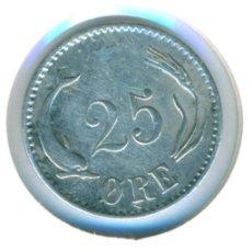 Monedas antiguas de Europa: DINAMARCA 25 ÖRE 1874 ( MBC ) - CRISTIÁN IX DE DINAMARCA - PLATA. Lote 115390711
