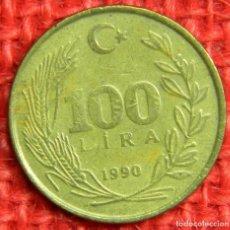 Monedas antiguas de Europa: TURQUIA - 100 LIRA - 1990. Lote 115451487