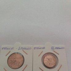 Monedas antiguas de Europa: DOS MONEDAS 1 FRANCO DE 1966 Y MEDIO FRANCO DE 1973. Lote 115472531