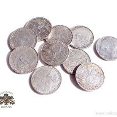Monedas antiguas de Europa: 10 MONEDAS DE ALEMANIA.- 2 MARCOS 1937. 38. 39 - III REICH - PLATA - CRUZ GAMADA - ESVASTICA. Lote 115914219