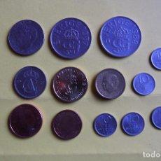 Monedas antiguas de Europa: LOTE 13 MONEDAS SUECIA. SVERIGE. ORE. KRONOR. DIVERSOS AÑOS. VER FOTOGRAFIAS. CORONAS. Lote 116060183