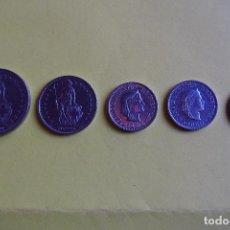 Monedas antiguas de Europa: LOTE 5 MONEDAS SUIZA. CONFEDERACIÓN HELVETICA. HELVETIA. FRANCO. DIVERSOS AÑOS. VER FOTOGRAFIAS. Lote 116073963