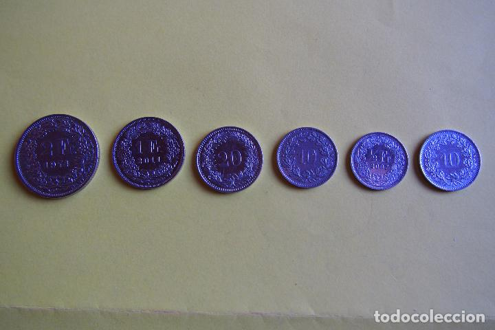 Monedas antiguas de Europa: LOTE 6 MONEDAS SUIZA. CONFEDERACIÓN HELVETICA. HELVETIA. FRANCO. DIVERSOS AÑOS. VER FOTOGRAFIAS - Foto 2 - 116074211