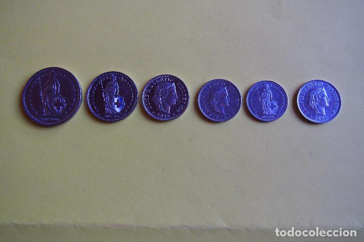 Monedas antiguas de Europa: LOTE 6 MONEDAS SUIZA. CONFEDERACIÓN HELVETICA. HELVETIA. FRANCO. DIVERSOS AÑOS. VER FOTOGRAFIAS - Foto 3 - 116074211