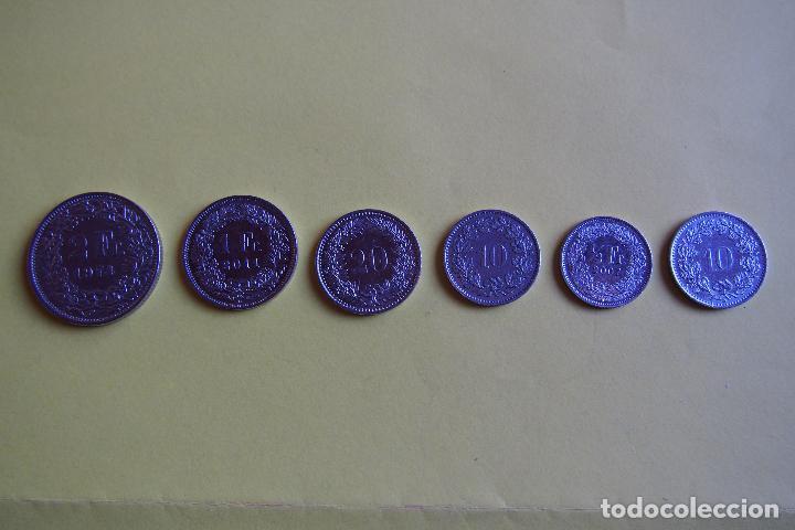 Monedas antiguas de Europa: LOTE 6 MONEDAS SUIZA. CONFEDERACIÓN HELVETICA. HELVETIA. FRANCO. DIVERSOS AÑOS. VER FOTOGRAFIAS - Foto 4 - 116074211