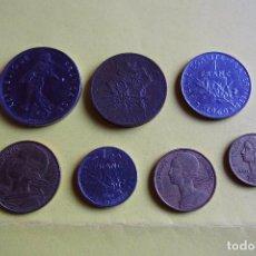 Monedas antiguas de Europa: LOTE 7 MONEDAS FRANCIA. REPUBLIQUE FRANÇAISE. LIBERTE EGALITE FRATERNITE. DIVERSOS AÑOS. VER FOTOS. Lote 116091455