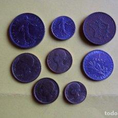 Monedas antiguas de Europa: LOTE 8 MONEDAS REPUBLIQUE FRANÇAISE. FRANCE. FRANCIA. DIVERSOS MODELOS Y AÑOS. VER FOTOS. Lote 116092011