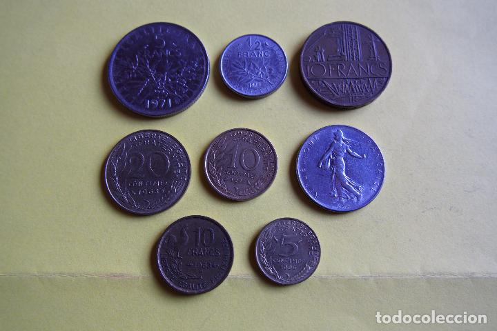 Monedas antiguas de Europa: LOTE 8 MONEDAS REPUBLIQUE FRANÇAISE. FRANCE. FRANCIA. DIVERSOS MODELOS Y AÑOS. VER FOTOS - Foto 2 - 116092011