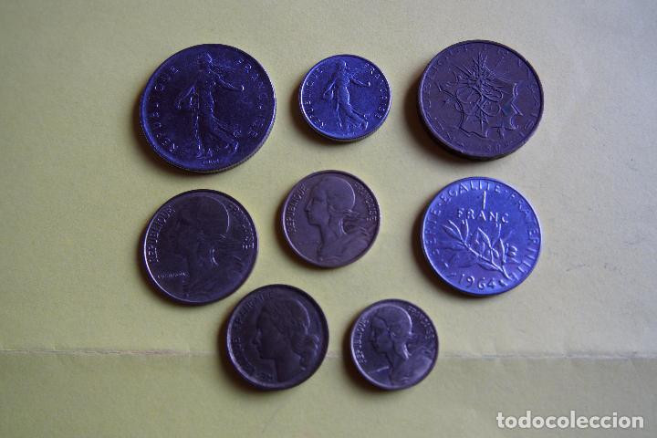 Monedas antiguas de Europa: LOTE 8 MONEDAS REPUBLIQUE FRANÇAISE. FRANCE. FRANCIA. DIVERSOS MODELOS Y AÑOS. VER FOTOS - Foto 3 - 116092011