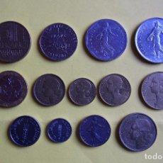 Monedas antiguas de Europa: LOTE 13 MONEDAS REPUBLIQUE FRANÇAISE. FRANCE. FRANCIA. DIVERSOS MODELOS Y AÑOS. VER FOTOS. Lote 116092267