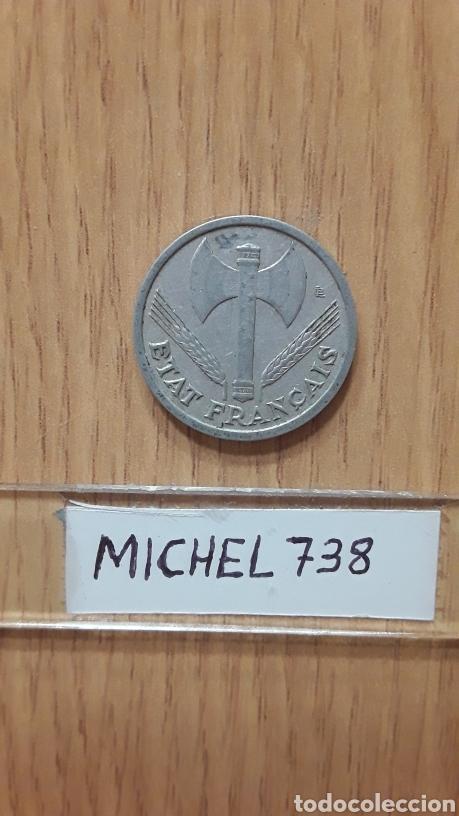 Monedas antiguas de Europa: Moneda Francia...1 Franco...Año 1943...Vichy Francia...Aluminio...KM# 902... - Foto 2 - 116850486