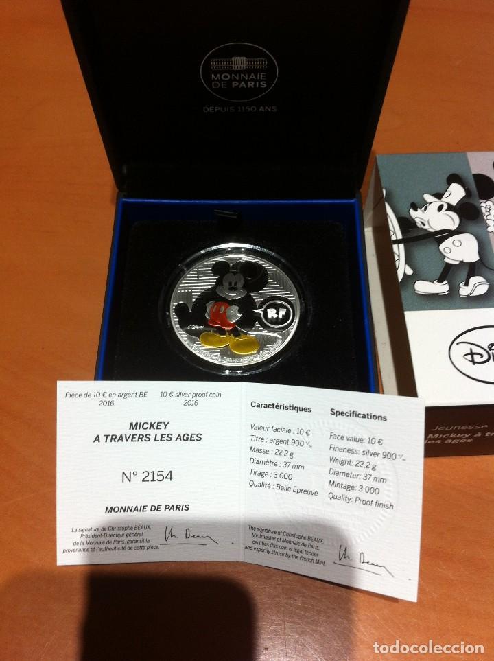 MONEDA DE PLATA MICKEY , FRANCIA (Numismática - Extranjeras - Europa)