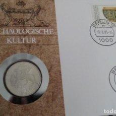 Monedas antiguas de Europa: MONEDA DE PLATA CARTA NUMISMATICA NUMISBRIEF A LOS 150 AÑOS INSTITUTO ARQUEOLOGICO ALEMAN 1829-1979. Lote 117459723