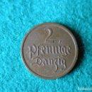 Monedas antiguas de Europa: MONEDA 2 PFENNIG - DANZIG - 1937 - CU - EBC+. Lote 117669811