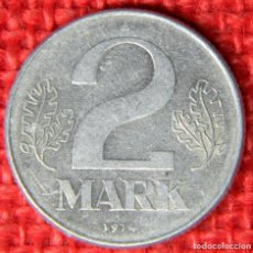 Monedas antiguas de Europa: REPUBLICA DEMOCRATICA ALEMANA - 2 MARK - 1974. Lote 117844095