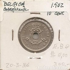 Monedas antiguas de Europa: BELGICA 1902. MONEDA DE 10 CENTIMOS. EPOCA LEOPOLDO II. EN ALEMAN. EBC. Lote 117934155