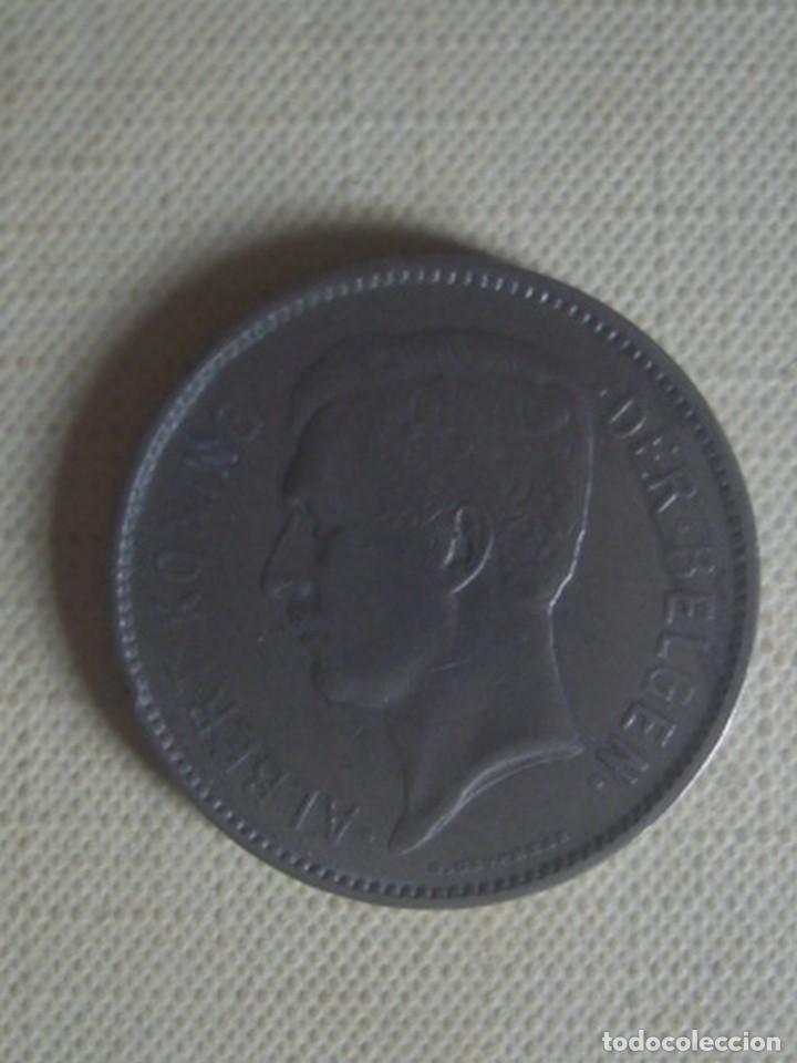 Monedas antiguas de Europa: Bélgica. 5 francos de 1933 de Alberto I con inscripción en neerlandés. KM 98, posición B - Foto 2 - 117949391