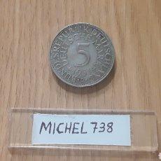 Alte Münzen aus Europa - Moneda Alemania 5 Marcos PLATA (Año 1951) ceca D - 109411314