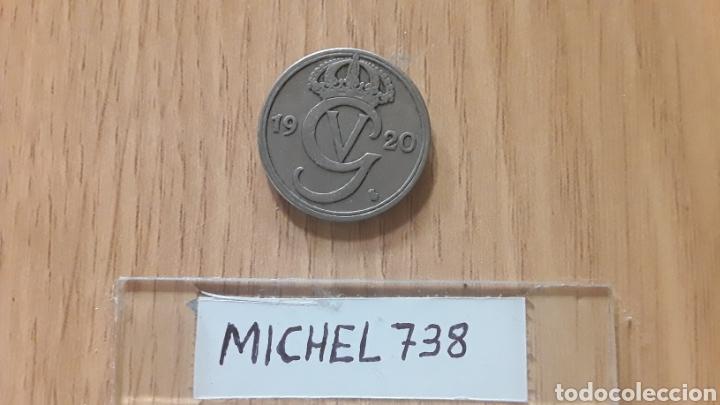 MONEDA SUECIA 50 ORE AÑO 1920 REY GUSTAV V (Numismática - Extranjeras - Europa)