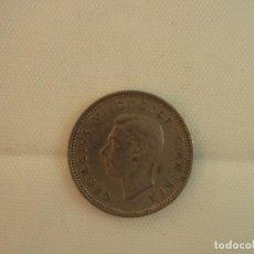 Monedas antiguas de Europa: MONEDA DE GEORGIVS VI DE INGLATERRA, SIXPENCE, 1949, PLATA, 19 MM, 3 GR. Lote 118216707