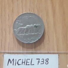 Monedas antiguas de Europa: MONEDA ITALIA 50 CÉNTIMOS...AÑO 1921...REY VITTORIO EMANUELE III...KM # 61... Lote 118386750