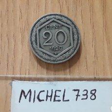 Monedas antiguas de Europa: MONEDA ITALIA 20 CÉNTIMOS..AÑO 1920...REINO VITTORIO EMANUELE III..KM # 58... Lote 118387364