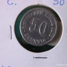Monedas antiguas de Europa: MONEDA 50 PFENNIG - ALEMANIA - 1876 C - PLATA - MBC. Lote 118479279