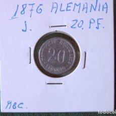 Monedas antiguas de Europa: MONEDA 20 PFENNIG - ALEMANIA - 1876 J - PLATA - MBC. Lote 118481155