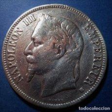 Monedas antiguas de Europa: 5 FRANCOS DE NAPOLEON III (ESTRASBURGO 1869). Lote 118591131