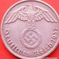 Monedas antiguas de Europa: ALEMANIA - TERCER REICH 2 REICHSPFENNIG, 1937 CECA D - MÚNICH. Lote 126087724