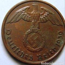 Monedas antiguas de Europa: ALEMANIA - TERCER REICH 2 REICHSPFENNIG, 1939 CECA A - BERLÍN. Lote 194405233