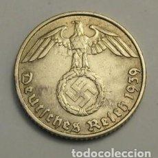 Monedas antiguas de Europa: ALEMANIA - TERCER REICH 5 REICHSPFENNIG, 1939 CECA J - HAMBURGO. Lote 118653971