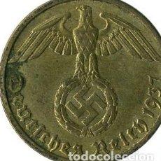 Monedas antiguas de Europa: ALEMANIA - TERCER REICH 10 REICHSPFENNIG, 1937 CECA J - HAMBURGO. Lote 118655991