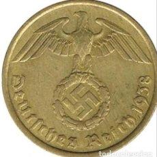 Monedas antiguas de Europa: ALEMANIA - TERCER REICH 10 REICHSPFENNIG, 1938 CECA G - KARLSRUHE. Lote 118656763