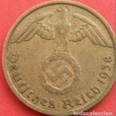 Monedas antiguas de Europa: ALEMANIA - TERCER REICH 10 REICHSPFENNIG, 1938 CECA J - HAMBURGO. Lote 118659267