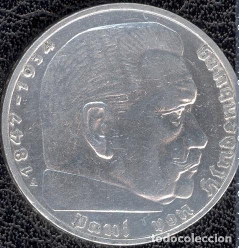 ALEMANIA - TERCER REICH 2 REICHSMARK, 1937 CECA A - BERLÍN -PLATA (Numismática - Extranjeras - Europa)
