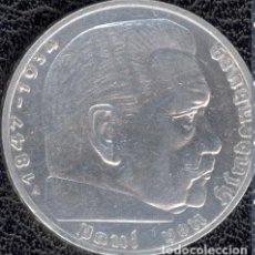 Monedas antiguas de Europa: ALEMANIA - TERCER REICH 2 REICHSMARK, 1937 CECA A - BERLÍN -PLATA. Lote 118663215