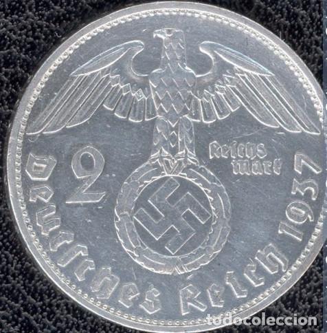 Monedas antiguas de Europa: Alemania - Tercer Reich 2 reichsmark, 1937 Ceca A - Berlín -PLATA - Foto 2 - 118663215