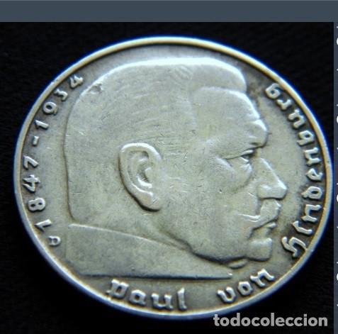 ALEMANIA - TERCER REICH 2 REICHSMARK, 1937 CECA D - MÚNICH - PLATA (Numismática - Extranjeras - Europa)