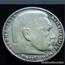 Monedas antiguas de Europa: ALEMANIA - TERCER REICH 2 REICHSMARK, 1937 CECA D - MÚNICH - PLATA. Lote 118663347