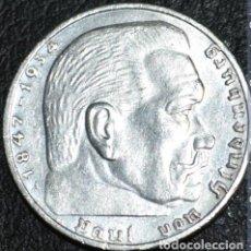 Monedas antiguas de Europa: ALEMANIA (TERCER REICH) 2 REICHSMARK, 1938 CECA A - BERLÍN-PLATA. Lote 118663611